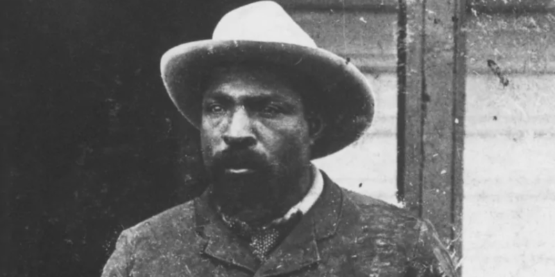 John Ware, seen here circa 1896, was a Black rancher on the Prairies in the late 19th and early 20th centuries.